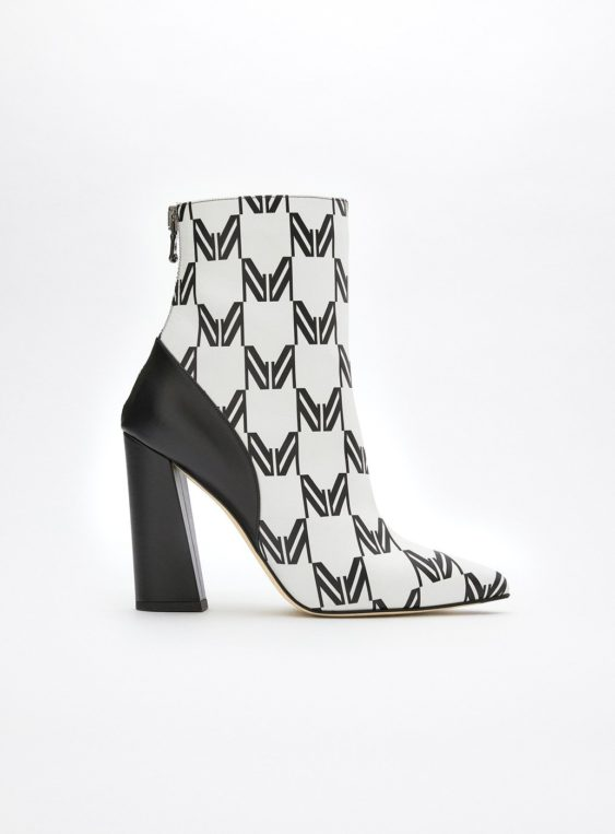 women's printed ankle boots