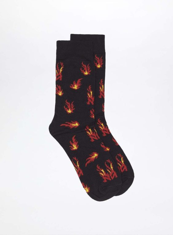 unisex flames socks