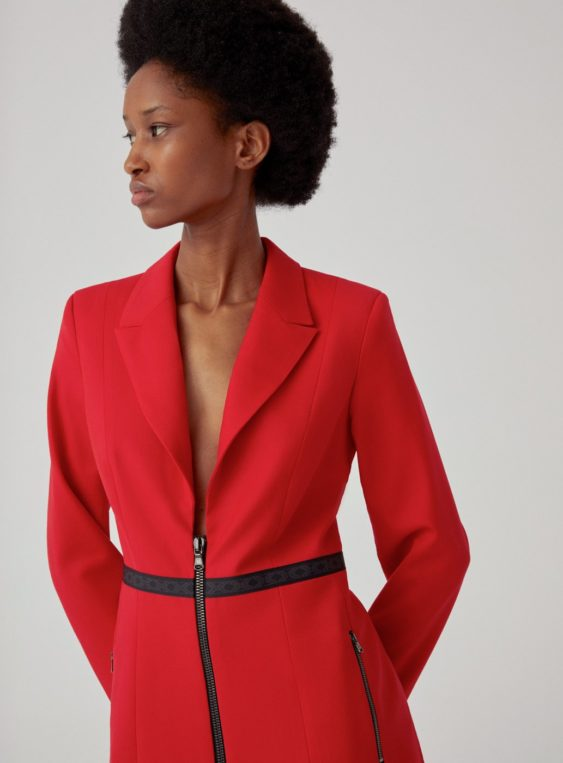 women's fitted suit blazer
