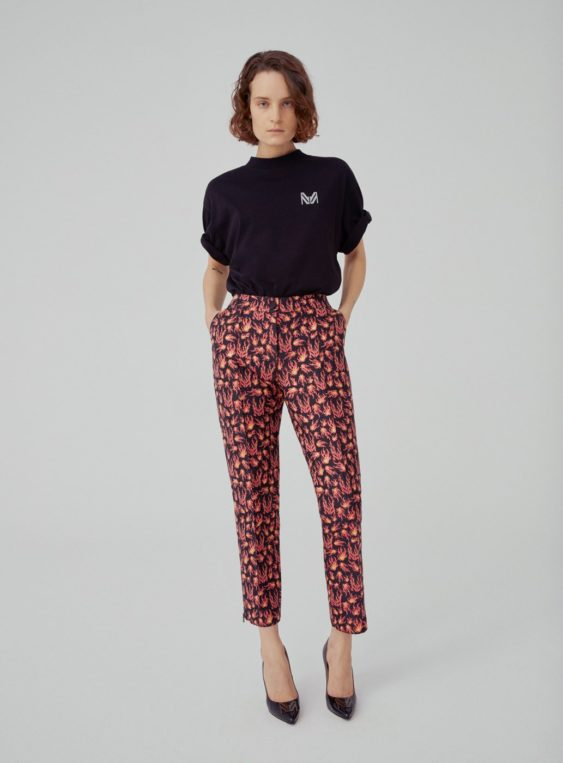 women's jacquard suit pants