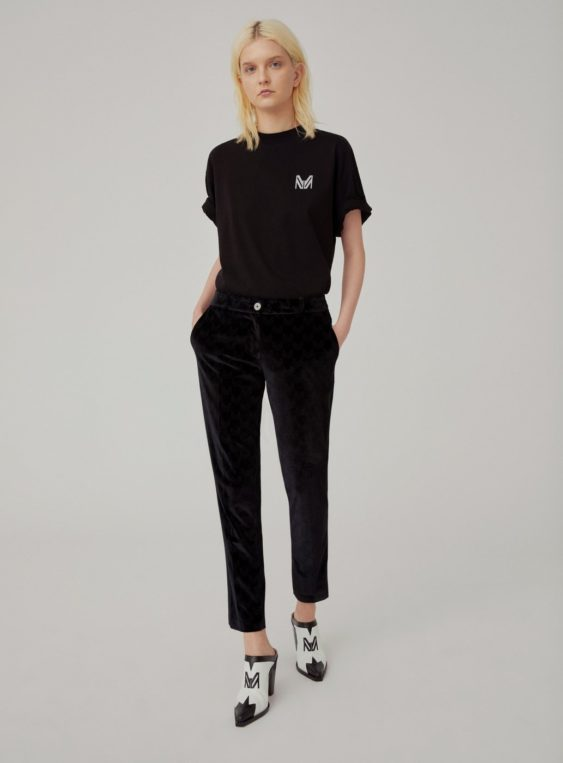 women's velvet suit pants
