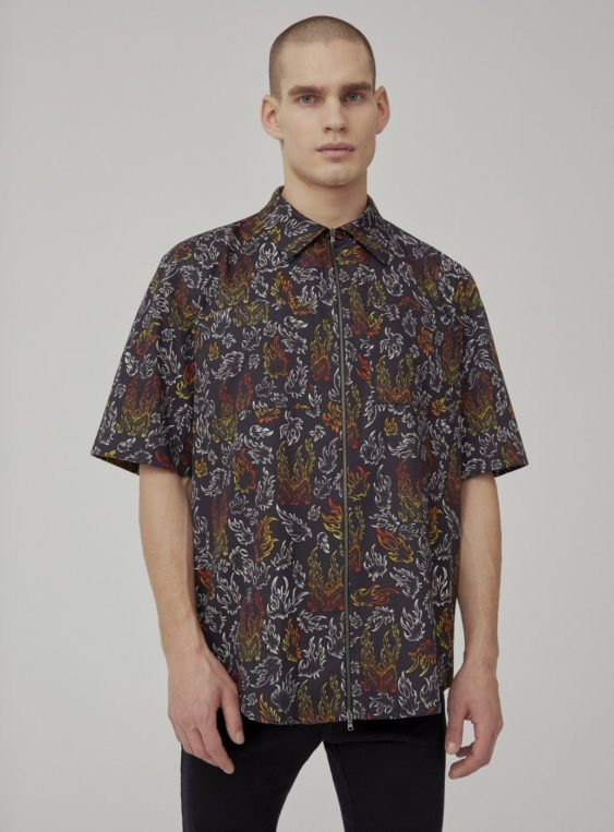 men's printed workwear shirt
