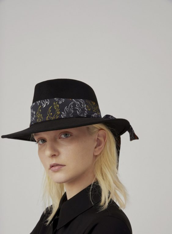 unisex wool hat with twilly