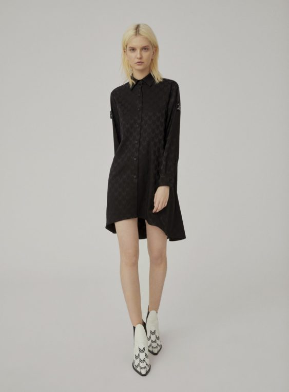women's jacquard oversized shirt dress
